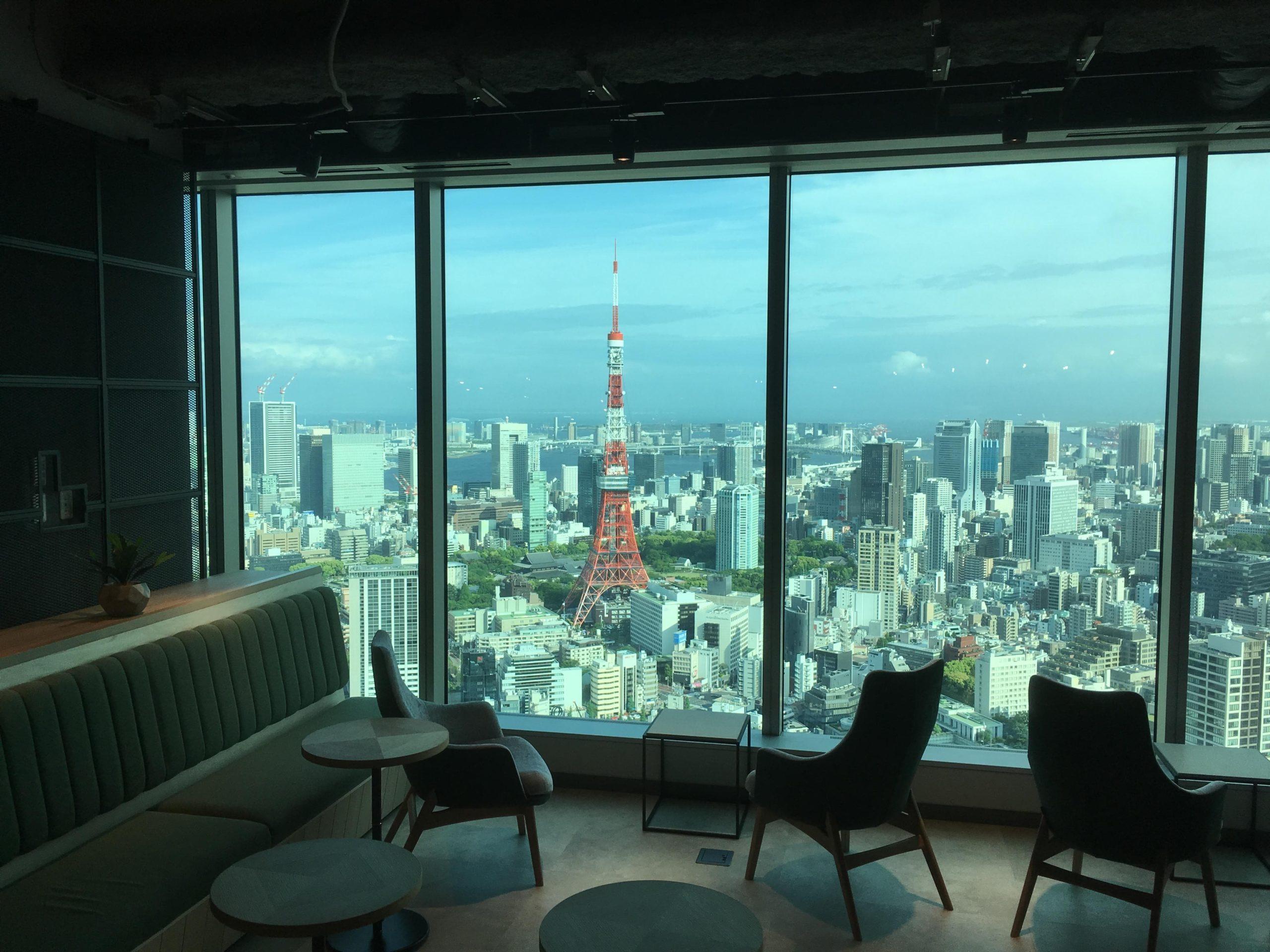 リノシーのオフィスから見る東京タワー