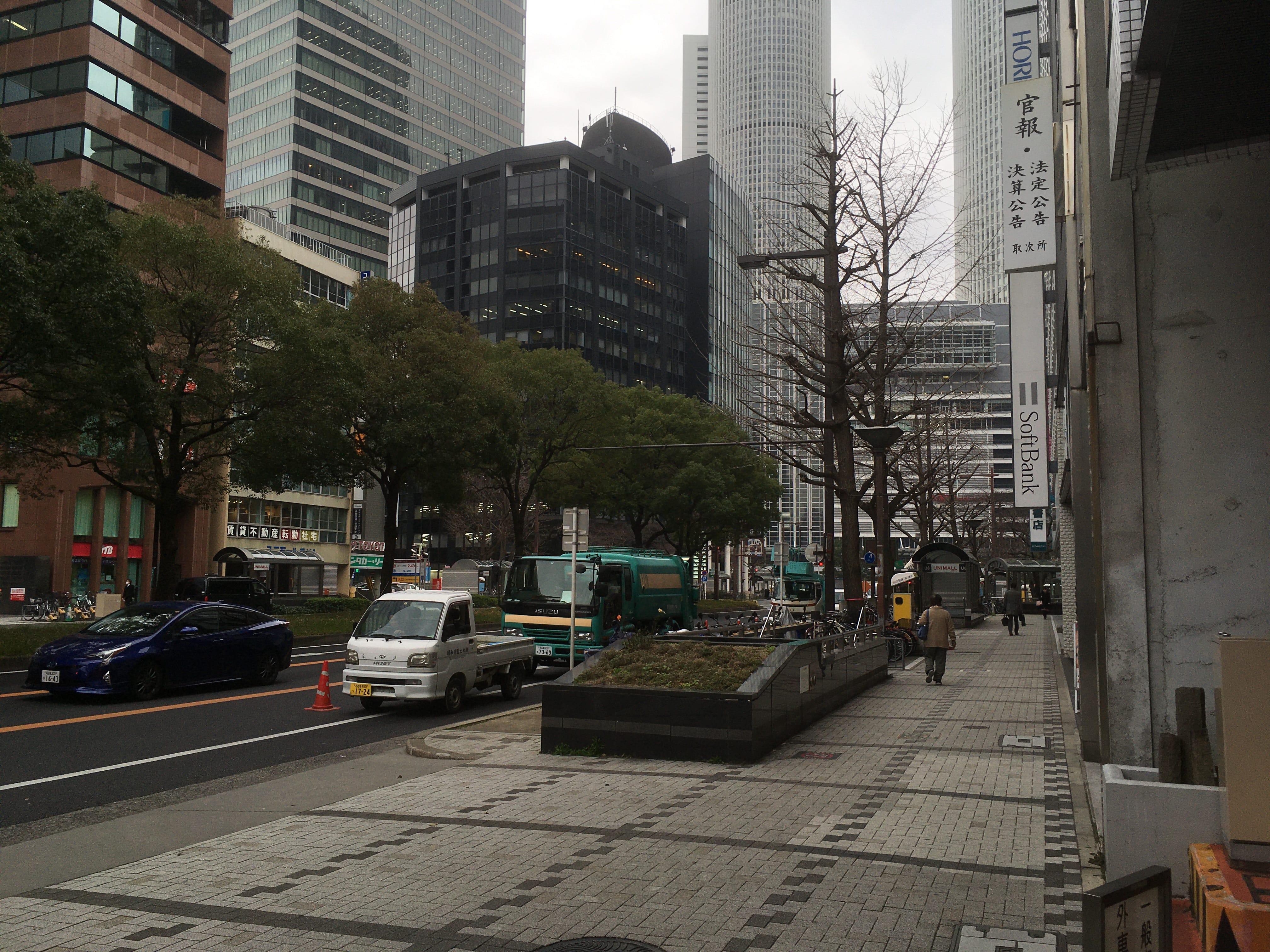 ゴリラクリニック名古屋駅前院から見た名古屋駅