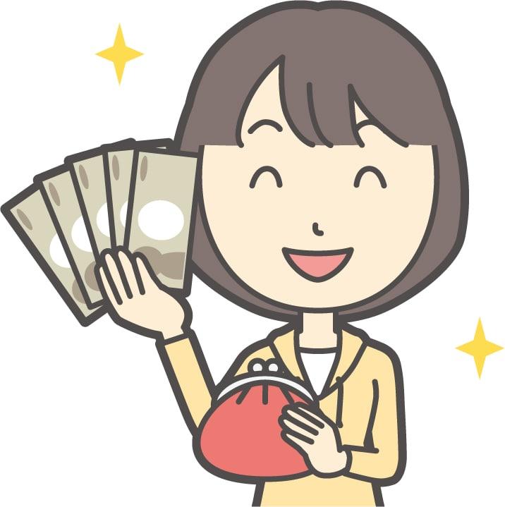 月末にブログ報酬が振り込まれて現金を手にする