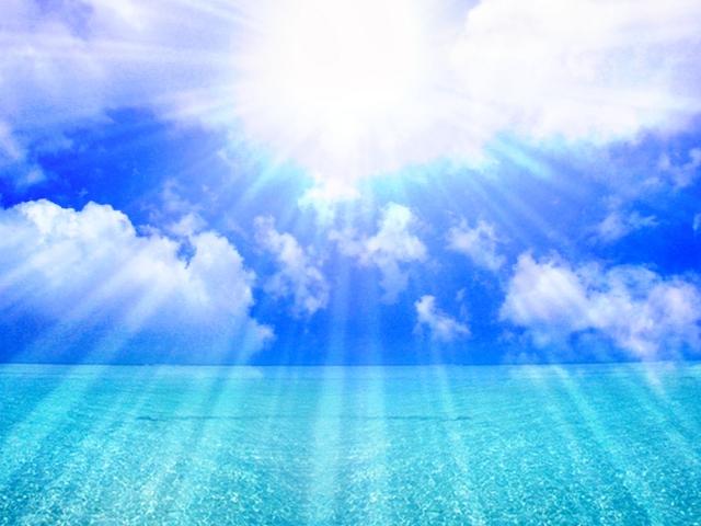 日光をいっぱいに浴びるイメージ