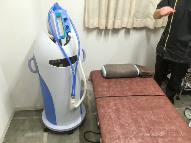ゴリラクリニックの施術室に置いてある笑気麻酔の器械