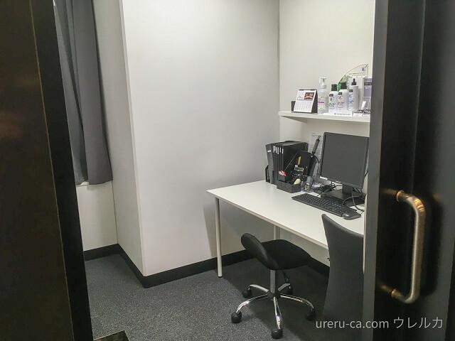 ゴリラクリニック大阪心斎橋院のカウンセリング室は扉を閉めれば完全個室になる
