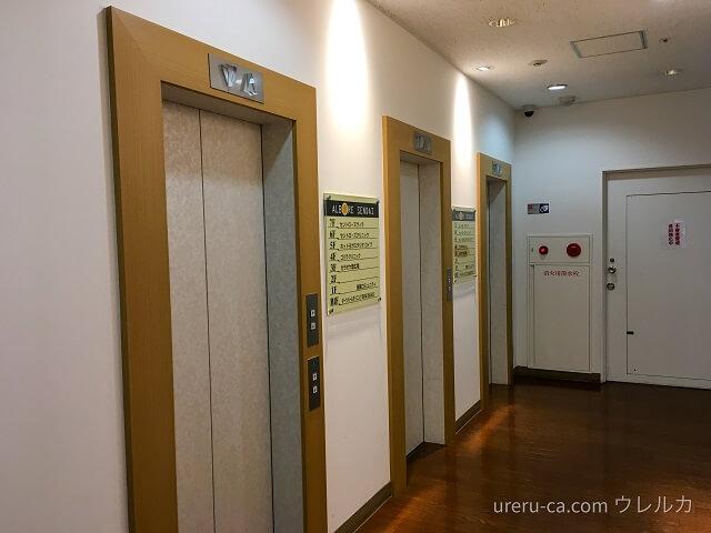 ゴリラクリニック仙台院に行くためのエレベーターは3機あるので余裕