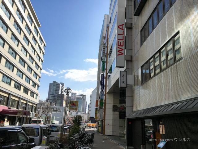 名古屋国際ホテルを過ぎて左折するとゴリラクリニックが入っているビルが見える