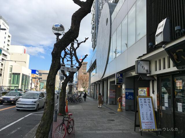 名古屋国際ホテルの入口を通過して錦通りを直進する